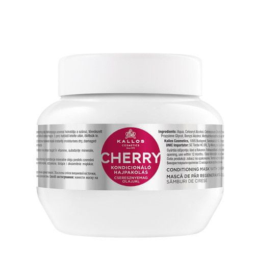 Kallos Jemná hydratační maska na vlasy s třešní a vitamíny (Conditioning Cherry Hair Mask) (Objem 275 ml)