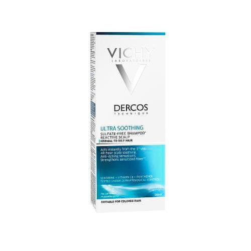 Vichy Ultrazklidňující šampon pro normální až mastné vlasy Dercos (Ultra smoothing Shampoo) 200 ml