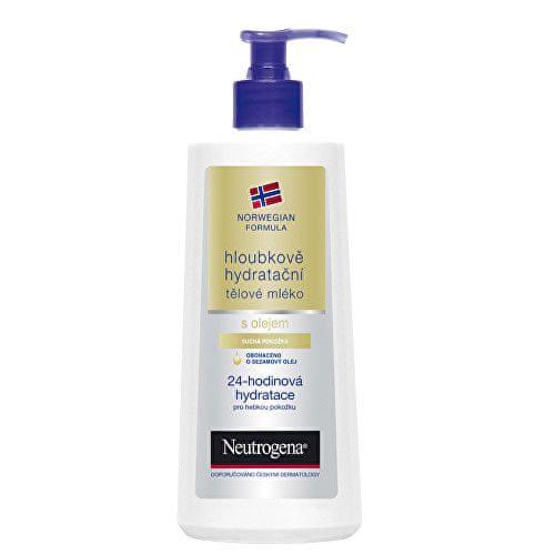 Neutrogena Hloubkově hydratační tělové mléko s olejem (Objem 400 ml)