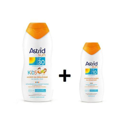 Astrid Dětské mléko na opalování OF 30 200 ml + Hydratační mléko na opalování OF 10 100 ml SUN