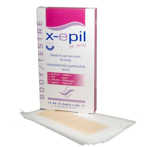 Ostatní Depilační pásky na tělo X-Epil 6 x 2