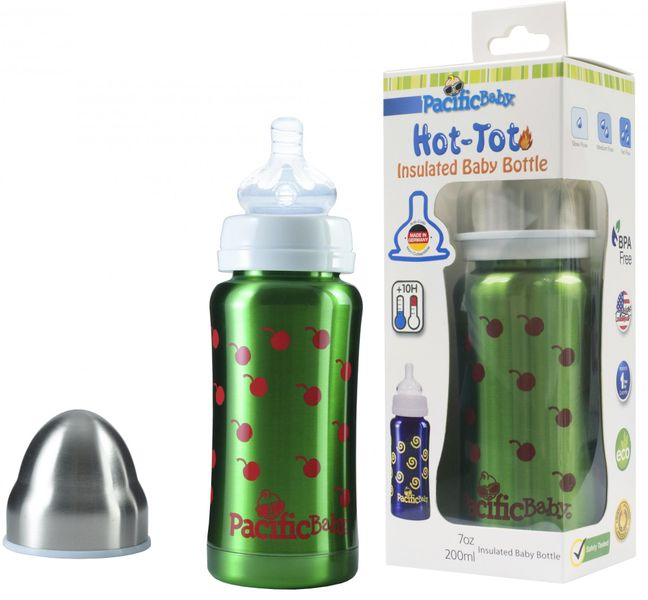 Pacific Baby Hot-Tot termoska 200 ml, Zelená - třešně