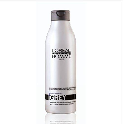 Loreal Professionnel Pánský šampon pro šedivé vlasy Homme (Grey Anti-Yellowing Shampoo) 250 ml