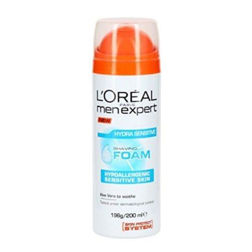L'Oréal Hydratační pěna na holení pro citlivou pleť Men Expert (Hydra Sensitive Shaving Foam) 200 ml