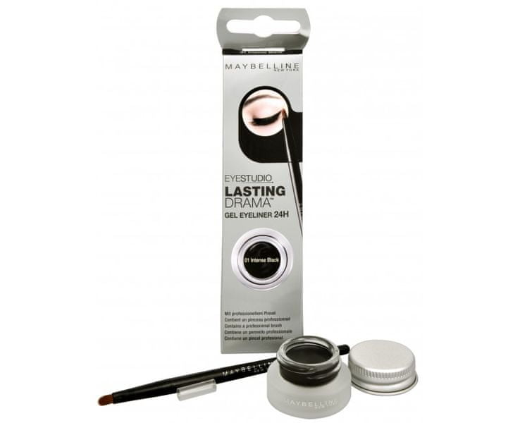 Maybelline Gelové oční linky Eyestudio Lasting Drama (Gel Eyeliner 24H) 2,8 g (Odstín 02 Brown)