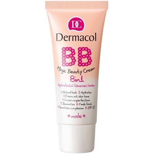 Dermacol Hydratační tónovací krém 8 v 1 BB SPF 15 (Magic Beauty Cream) 30 ml (Odstín Shell)