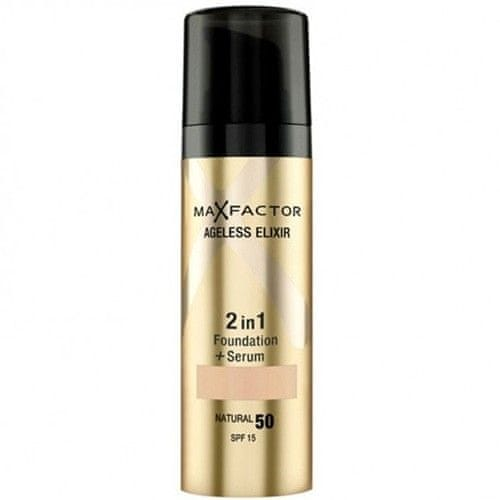 Max Factor Make-up a sérum 2 v 1 Ageless Elixir 30 ml (Odstín 50 Natural)