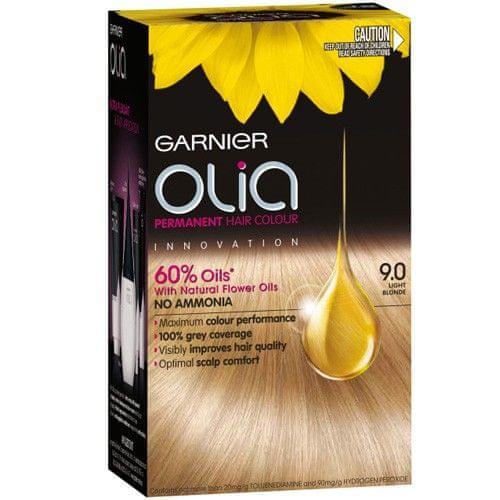 Garnier Permanentní olejová barva na vlasy bez amoniaku Olia (Odstín 10.1 velmi světlá popelavá blond)