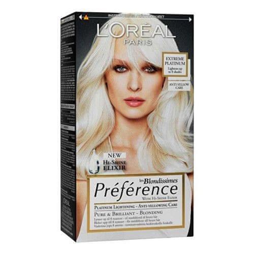 L'Oréal Zesvětlující barva na vlasy Blondissimes Préférence (Odstín Extreme Platinum)