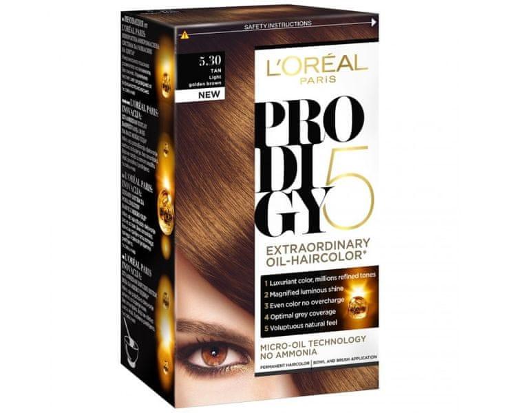 L'Oréal Olejová barva na vlasy Prodigy 5 (Odstín 9.10 velmi světlá blond popelavá)