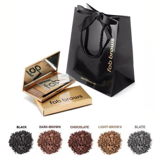 fab brows Luxusní set pro úpravu obočí fab brows (Odstín Black)