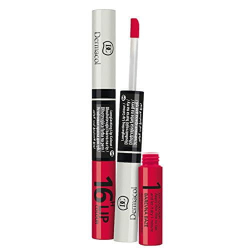 Dermacol Dlouhotrvající barva na rty a lesk 2v1 16h Lip Colour (Odstín č.8 Růžová - Magenta)