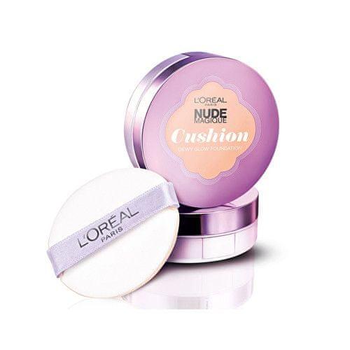 L'Oréal Tekutý make-up SPF 25 Nude Magique (Cushion Foundation) 14,6 g (Odstín 06 Rose Beige)