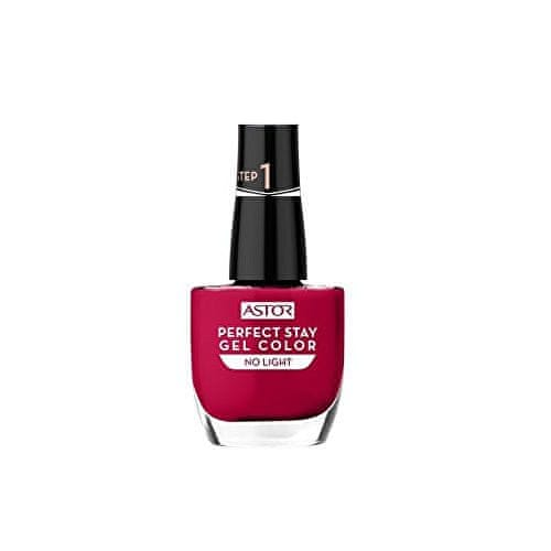Astor Gelový lak na nehty No Light (Perfect Stay Gel Color) 12 ml (Odstín 019 Fashionably Red)