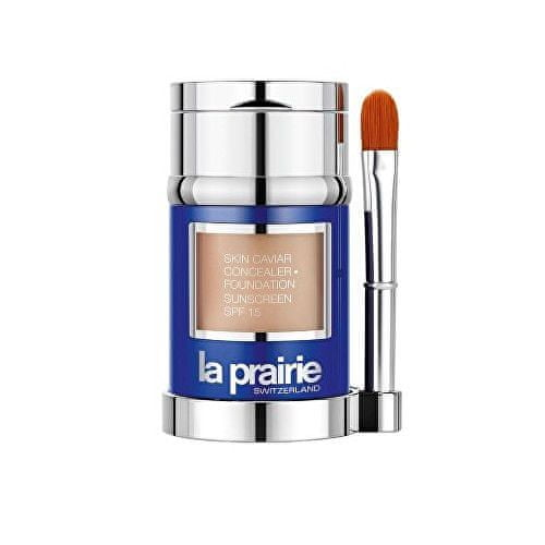 La Prairie Luxusní tekutý make-up s korektorem SPF 15 (Skin Caviar Concealer Foundation) 30 ml (Odstín Peche)