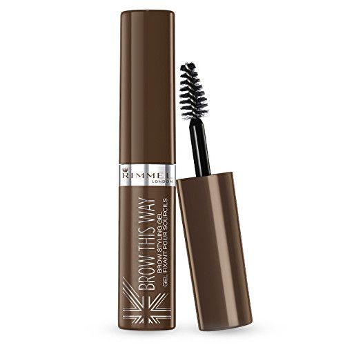 Rimmel Řasenka pro úpravu obočí Brow This Way (Brown Styling Gel) 5 ml (Odstín 002 Medium Brown)