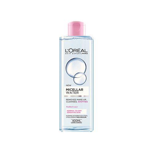 L'Oréal Micelární voda pro normální a suchou citlivou pleť 3v1 (Micellar Water) 400 ml