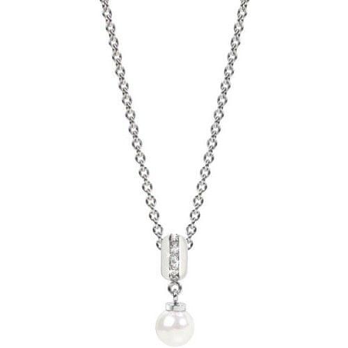 Morellato Ocelový náhrdelník Drops White Pearl SCZW6