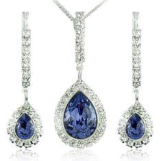 MHM Souprava šperků Avril Tanzanite 34125 stříbro 925/1000