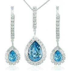 MHM Souprava šperků Avril Aquamarine 3498 stříbro 925/1000