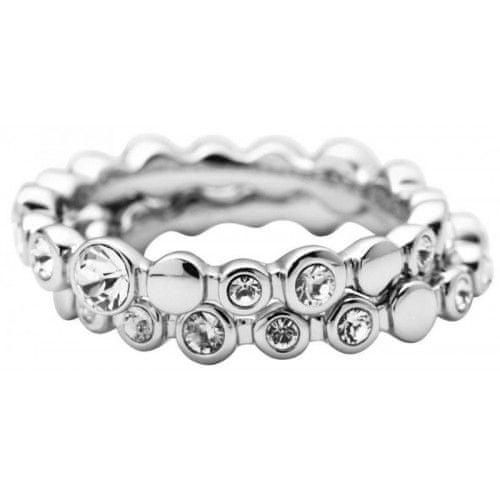 DKNY Ocelový prsten s krystaly NJ1692040 (Obvod 59 mm)