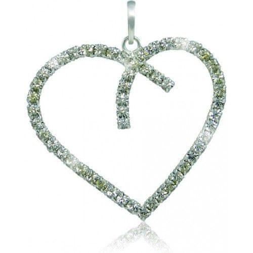 MHM Náhrdelník Srdce Crystal 3194