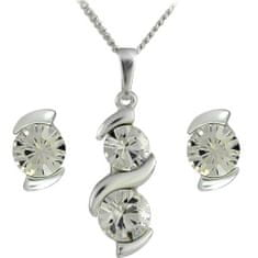 MHM Souprava šperků Sisi Crystal 34146 stříbro 925/1000