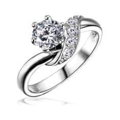 Silvego Strieborný zásnubný prsteň SHZR234
