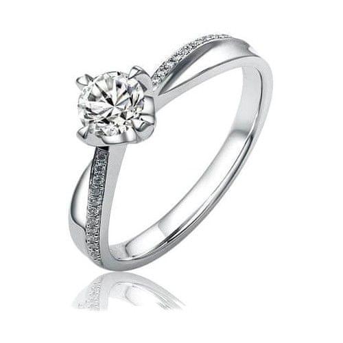Silvego Stříbrný zásnubní prsten SHZR302 (Obvod 52 mm)