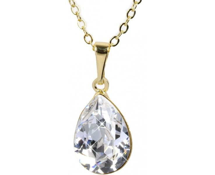 Troli Náhrdelník Pear 14 mm Crystal