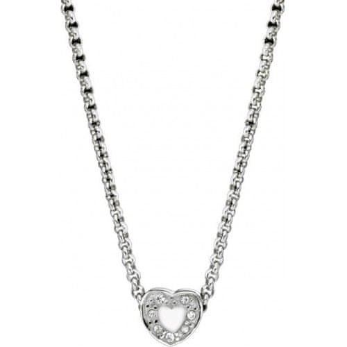 Morellato Ocelový náhrdelník Drops White Heart SCZ254