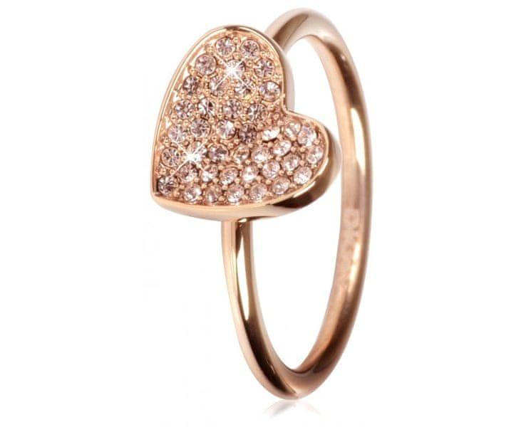 DKNY Bronzový prsten se srdíčkem NJ1996040 (Obvod 60 mm)