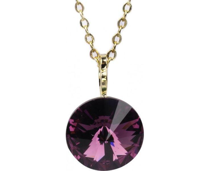 Troli Zlatý náhrdelník Rivoli Amethyst