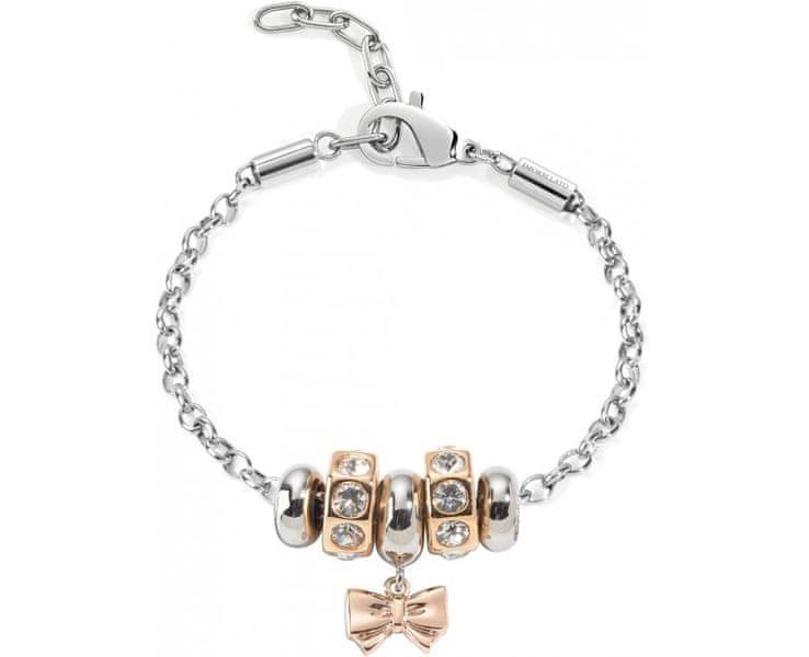 Morellato Ocelový bicolor náramek Drops Rose Gold Bow SCZ455