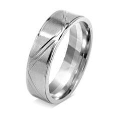Silvego Snubný prsteň pre mužov a ženy z chirurgickej ocele RRC0465