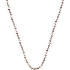 Hot Diamonds Strieborná retiazka Emozioni Silver and Rose Gold Bead CH020