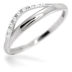 Brilio Dámsky prsteň z bieleho zlata s kryštálmi 229 001 00569 07