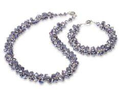 JwL Jewellery Set náhrdelník s náramkom fialový JL0066