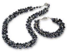 JwL Jewellery Set náhrdelník s náramkom grafitový JL0074