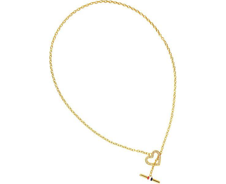Tommy Hilfiger Zlatý náhrdelník se srdcem TH2700637