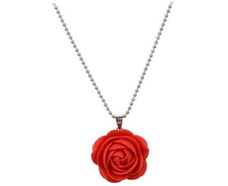 Troli Červený náhrdelník kytička