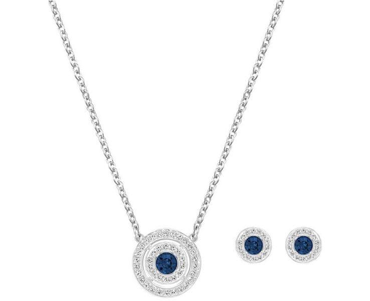 Swarovski Modrá sada náhrdelníku a náušnic Attract Blue Light 5166045