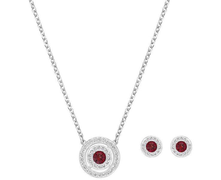 Swarovski Červená sada náhrdelníku a náušnic Attract Red Light 5160907