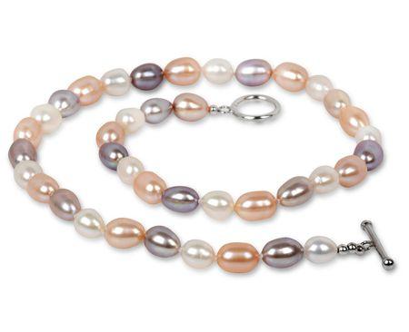 JwL Jewellery Náhrdelník z pravých multibarevných perel JL0135
