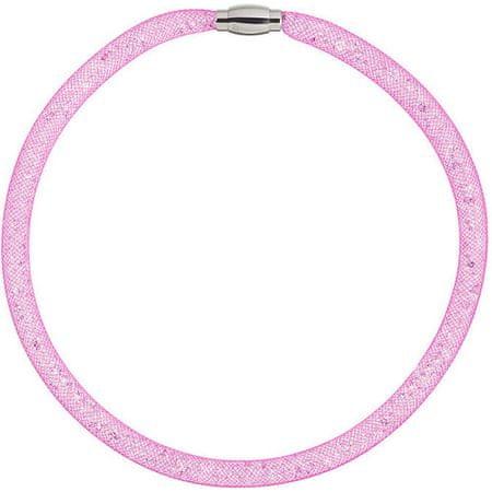 Preciosa Třpytivý náhrdelník Scarlette fuchsiový 7250 55