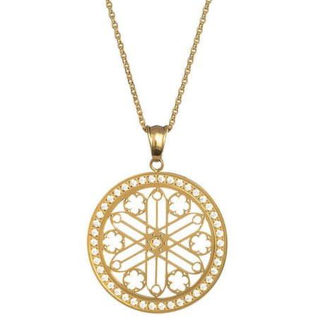 Preciosa Pozlacený náhrdelník s krystaly Rosette 7238Y00
