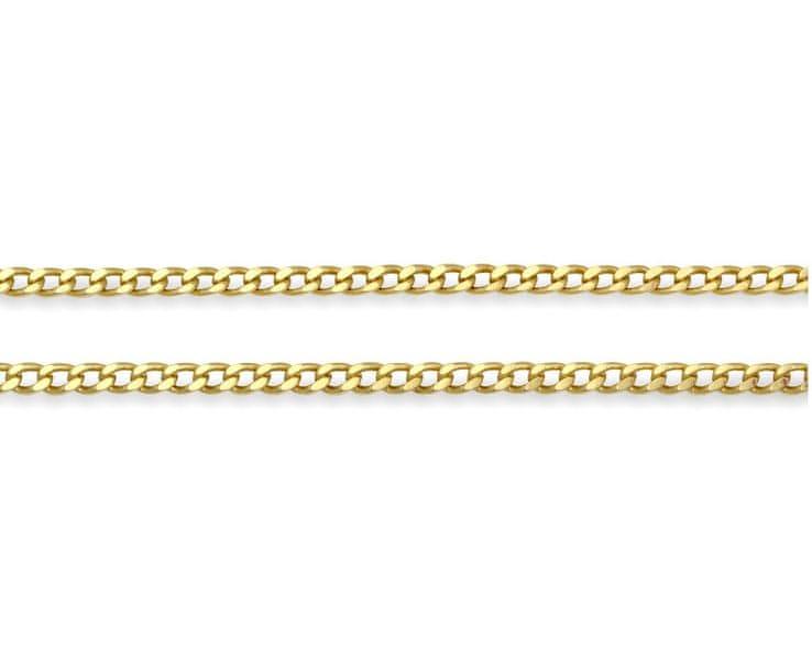 Troli Pozlacený stříbrný řetízek z malých oček (Délka 42 cm)