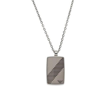 Emporio Armani Ocelový náhrdelník pro muže EGS2027040