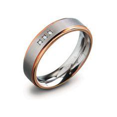 Boccia Titanium Titánový snubný prsteň 0134-02