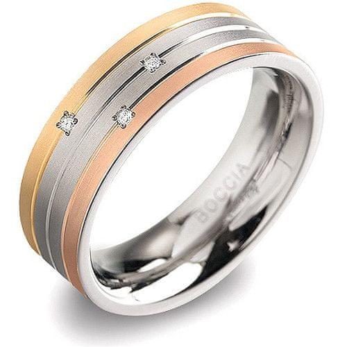 Boccia Titanium Titanový prsten s brilianty 0135-02 51 mm
